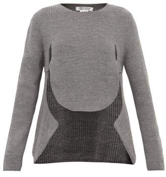 Comme des Garcons Cut-out Draped-front Sweater - Womens - Grey