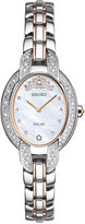 Seiko Women's Tressia Solar Misty Copeland Limited Edition Diamond Accent Two-Tone Stainless Steel Bracelet Watch 21mm SUP327
