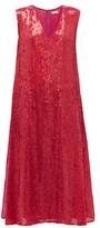 Ashish Sequinned Side-slit Dress - Womens - Pink