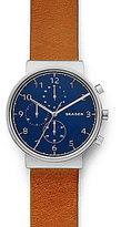 Skagen Ancher Chronograph Leather-Strap Watch