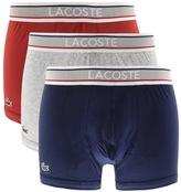 Lacoste Underwear Triple Pack Boxer Trunks Red