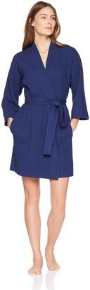Arabella Amazon Brand Women's Knit Waffle Robe