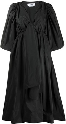 MSGM gathered A-line dress