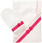Kate Spade Hooded Towel & Mitt Set (Baby Girls)