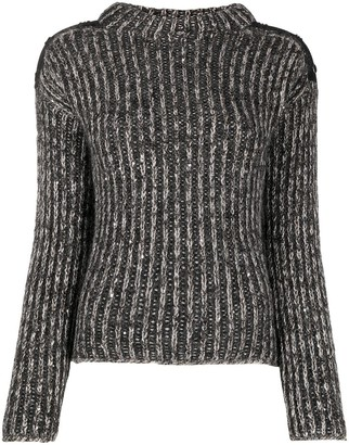 D-Exterior Button-Shoulder Jumper