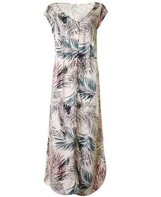 Saint Tropez Palm Print Long Dress Colour: BLUSH, Size: XS