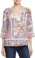 Daniel Rainn Crochet Trim Peasant Blouse