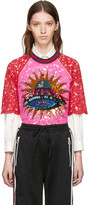 Gucci Pink & Red Lace UFO Blouse