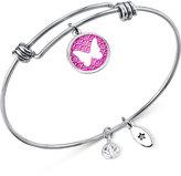 Unwritten Silver-Tone Dreams Adjustable Bangle Bracelet