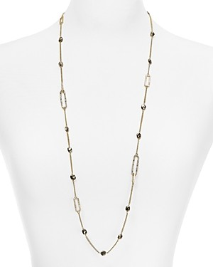 Alexis Bittar Crystal Encrusted Chain Necklace, 30