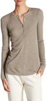 ATM Anthony Thomas Melillo Engineered Ribbed Silk Blend Henley Tee