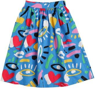 Stella McCartney Graphic Print Organic Cotton Skirt