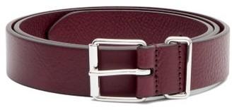 Andersons Leather Belt - Burgundy