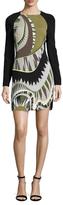 Emilio Pucci Printed Side Split Sheath Dress