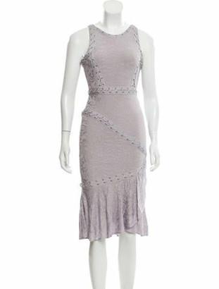 Herve Leger Jacquard Bandage Dress