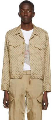 Bode Gold Daisy Cropped Jacket