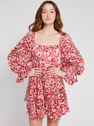 Alice + Olivia Debra Floral Tunic Mini Dress