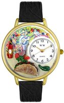 Women's G0310015 Unisex Gold Taco Lover Black Leather And Goldtone Watch