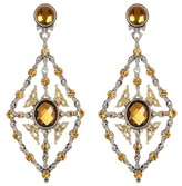 Konstantino Sterling Silver & 18K Gold Faceted Stone Chandelier Earrings