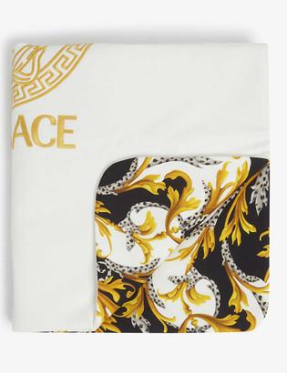 Versace Baroque cotton kid's blanket 66cm x 76cm