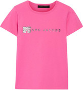 Marc Jacobs Embellished Cotton-jersey T-shirt - Pink