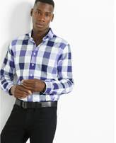Express slim check dress shirt