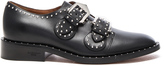 Givenchy Elegant Leather Monk Strap Oxfords