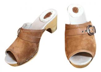 UGG Beige Suede Sandals