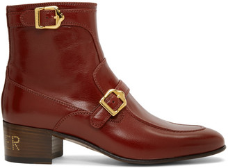 Gucci Red Ebal Boots