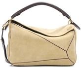 Loewe Puzzle Suede Shoulder Bag