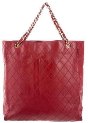 Chanel Quilted Leather Tote