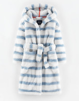 Boden Cosy Dressing Gown Winter Sky Stripe Girls