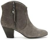 Ash Women's Jess Reverse Broken Suede Heeled Ankle Boots Topo
