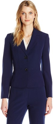 Kasper Women's Plus Size Two Button Jacket
