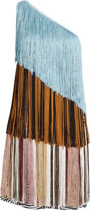 Missoni Colorblock Fringe Mini Dress
