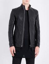 Boris Bidjan Saberi Stand-collar leather jacket
