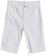 Sneak Peek Denim Side Slit Biker Shorts