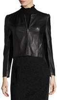 Rebecca Taylor Napa Leather Jacket, Black