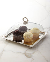 Godinger Square Tray with Glass Dome