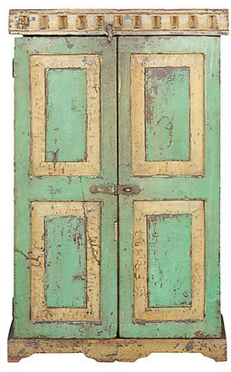 One Kings Lane Vintage Early 20th C. French Painted Cabinet - de-cor