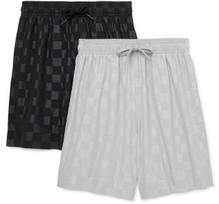 Athletic Works Youth 8-18 & Husky Soccer Shorts, 2-Pack
