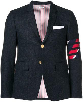Thom Browne 4-bar Intarsia Duck sport coat