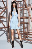 boohoo Premium Poppy Bandage Cage Neck Bodycon Dress