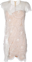 Nedret Taciroglu Couture embellished scallop hem dress