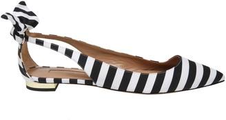 Aquazzura Deneuve Striped Ballet Flats