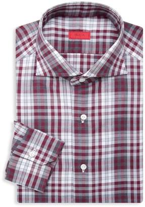 Isaia Slim-Fit Plaid Dress Shirt