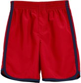 City Threads Swim Trunk (Toddler/Kid) - Red With Navy Trim - 4T
