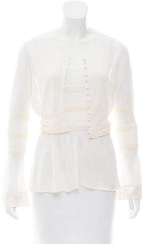 Chanel Silk-Trimmed Cardigan Set