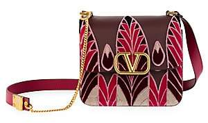 Valentino Women's Garavani VSling Embroidered Leather Crossbody Bag