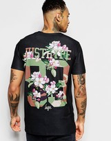 Hype T-Shirt With Floral Camo Back Print